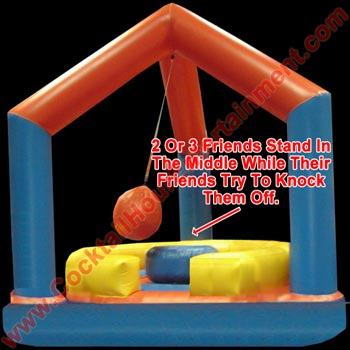 boulder toss inflatable game arcade party rental