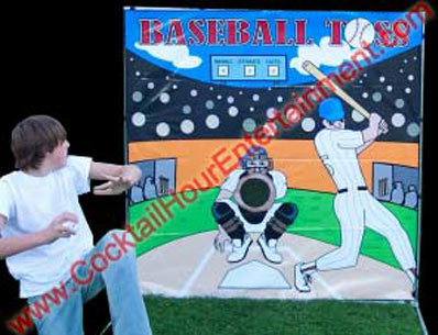 baseball toss arcade game rental